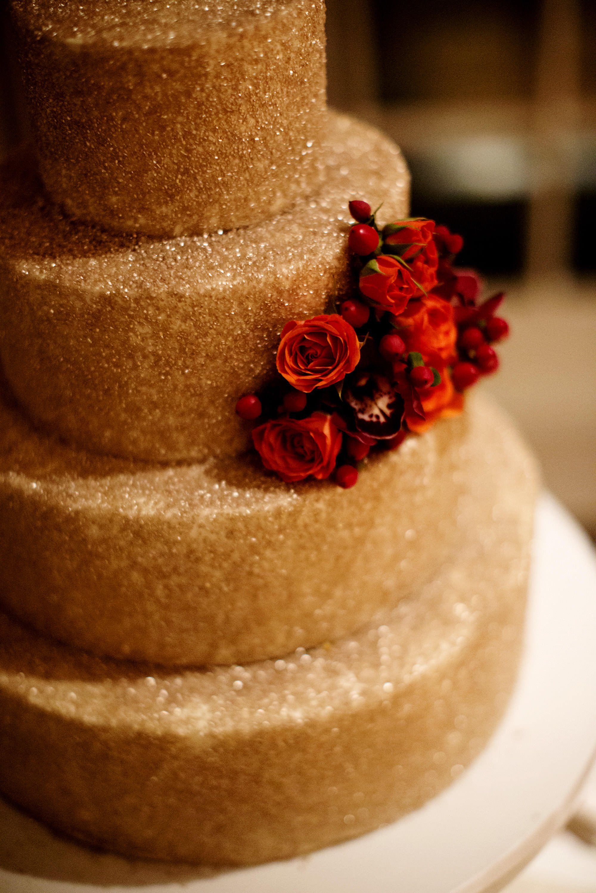 A detail of the wedding cake during this wedding at the Hay Adams Hotel in Washington, DC.