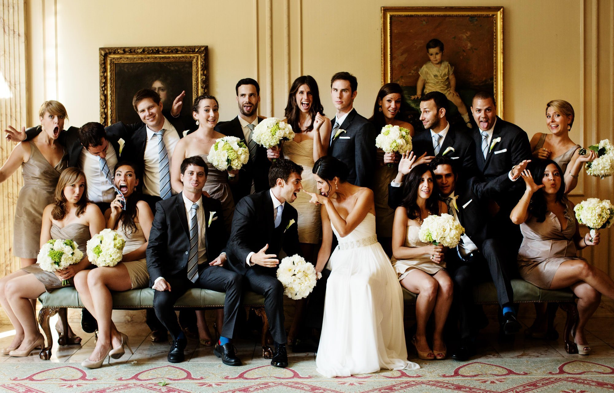 NMWA Weddings I A portrait of the wedding party.