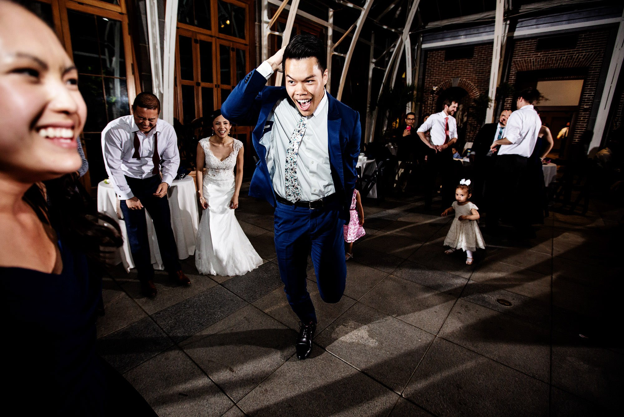 Guests dance during the Tower Hill Botanic Garden Wedding reception.