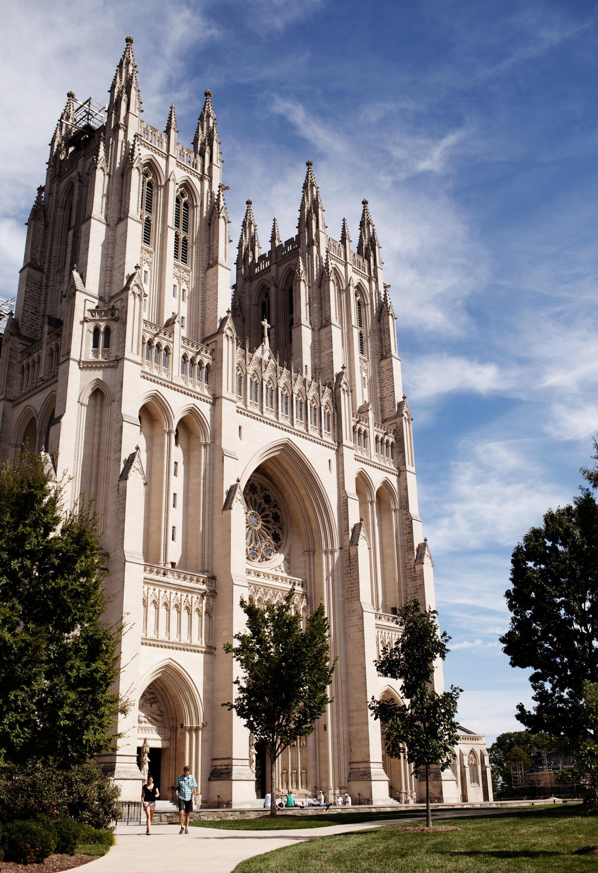 The Washington National Cathedral on the wedding day.