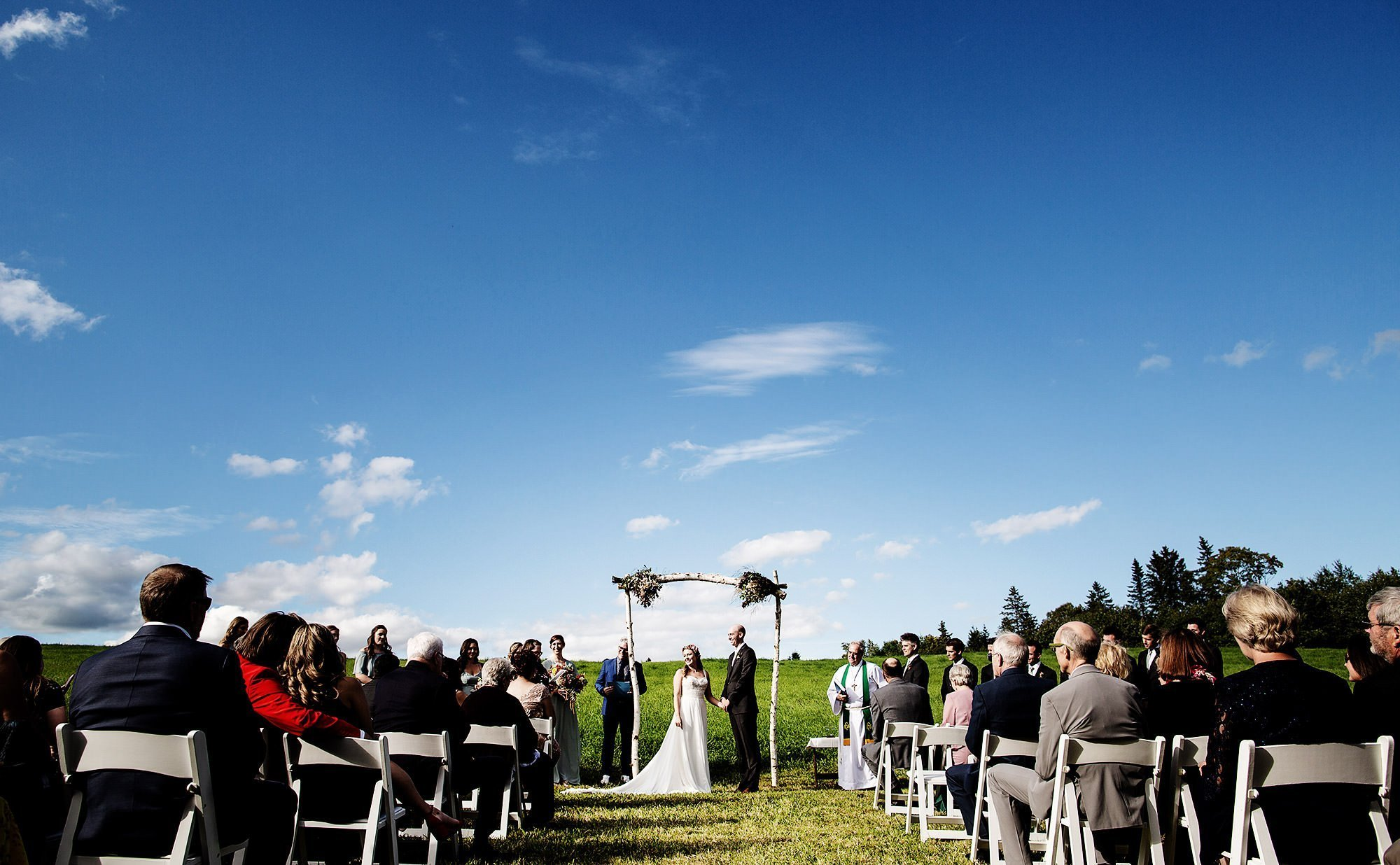 Vermont Family Farm Wedding  I  The wedding ceremony
