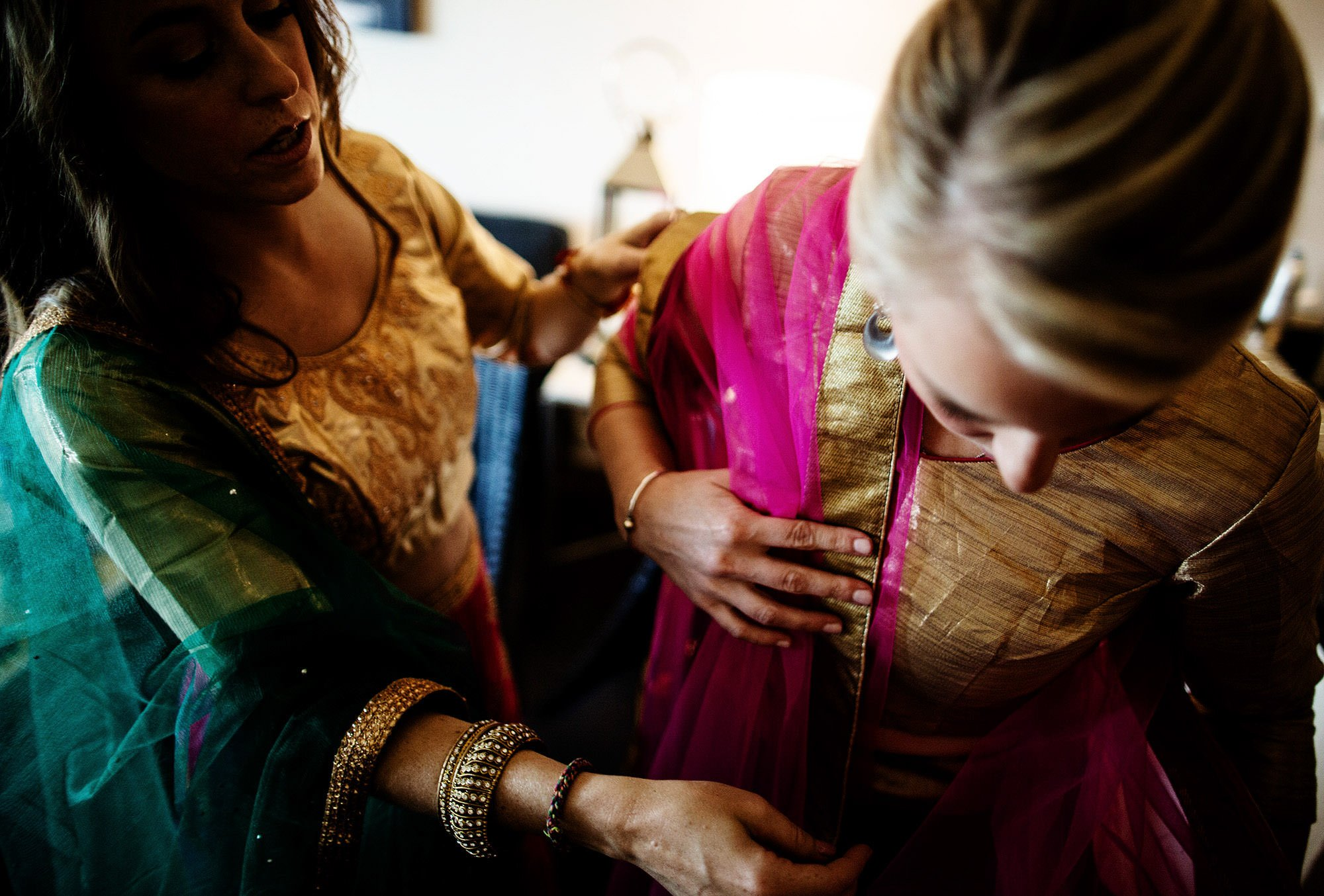 Wentworth by the Sea Wedding  I  Bridesmaids get ready before the Hindu ceremony.