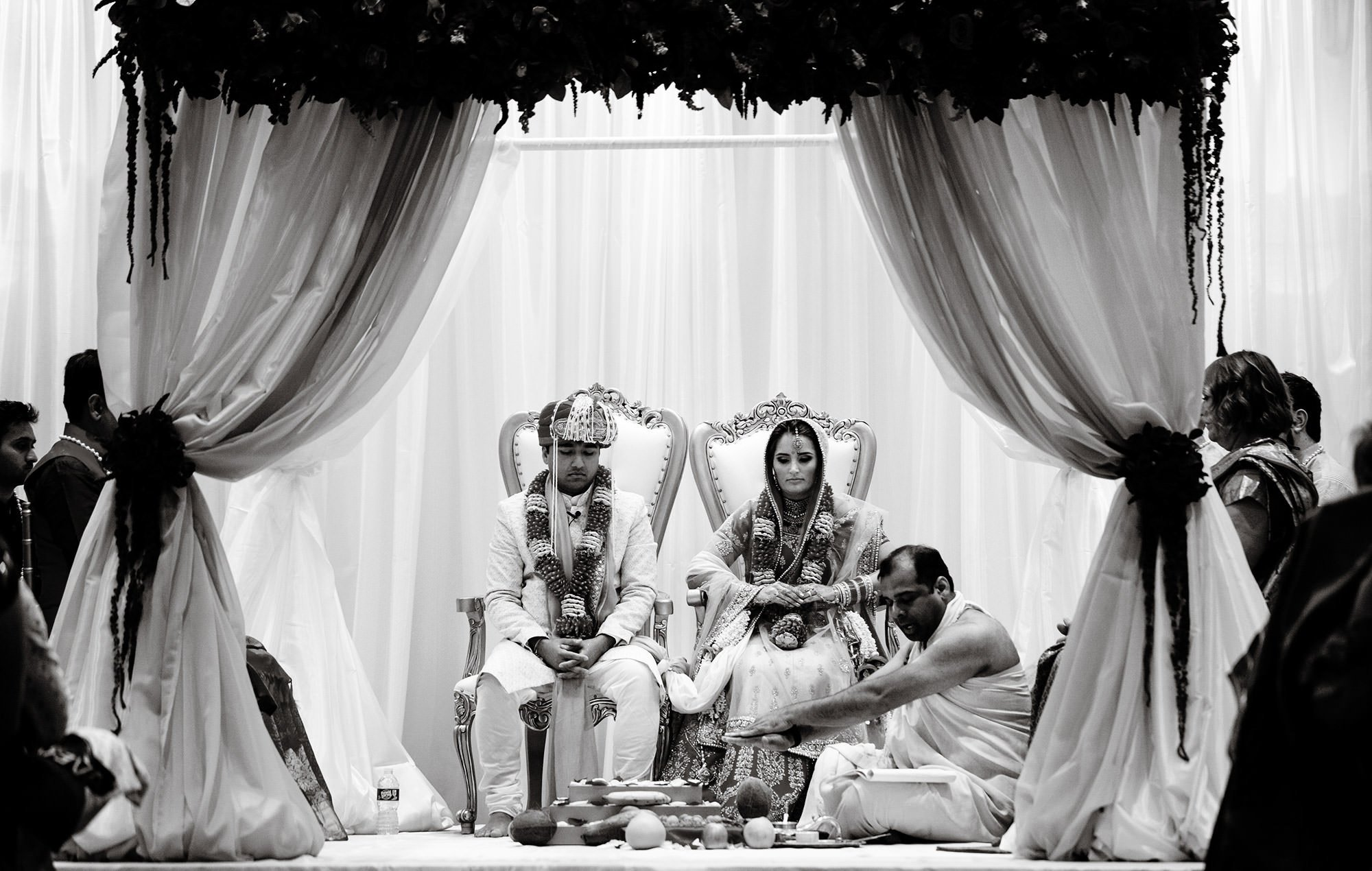 Wentworth by the Sea Wedding  I  The Hindu ceremony under the Mandap.