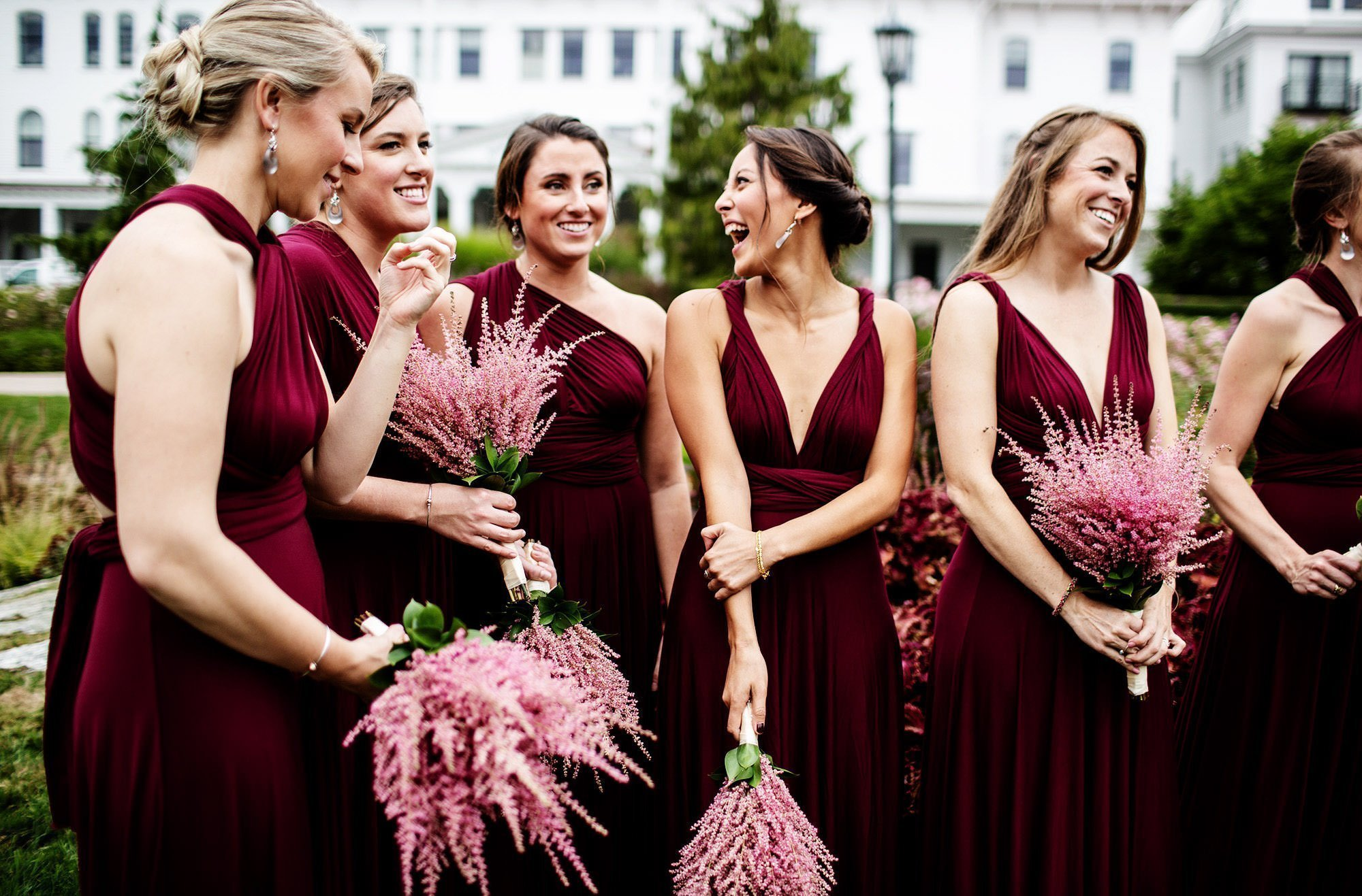 Wentworth by the Sea Wedding  I  Bridesmaids smile before the wedding ceremony.