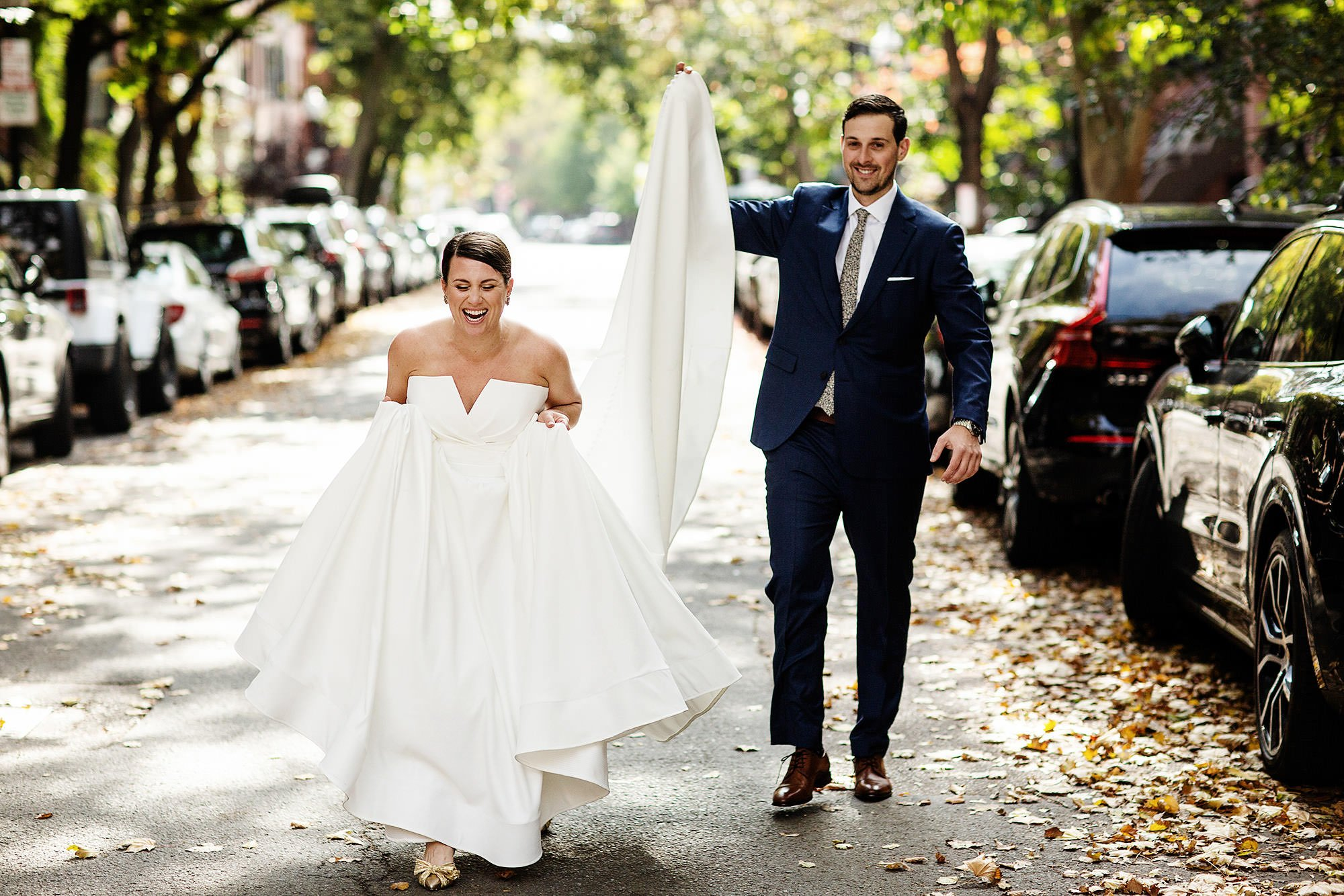 SRV Boston Wedding  I  The couple walk the streets of Boston, MA before their wedding ceremony.